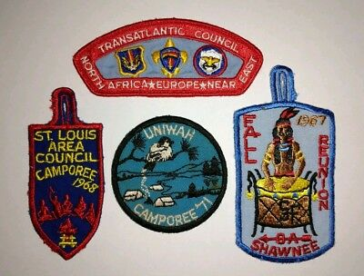 Set of 4 1960s and 1970s Vintage Boy Scouts of America Patches BSA