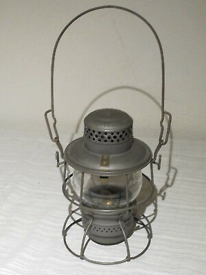 Vintage Armspear Nyc Lines Cnx Railroad Train Lantern Adlake Kero Excellent Cond