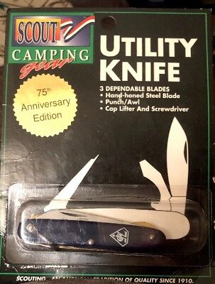 Cub Scout 75th Anniversary Utility Knife New In Package Boy Scouts BSA