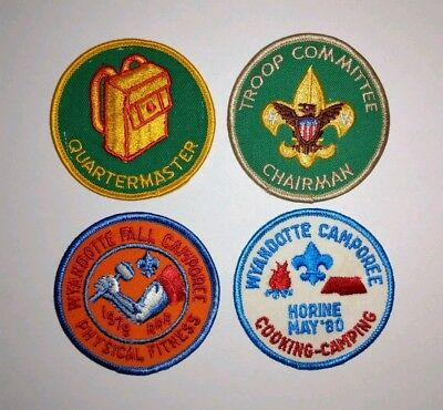 Set of 4 Vintage Boy Scouts of America Patches BSA Wyandotte