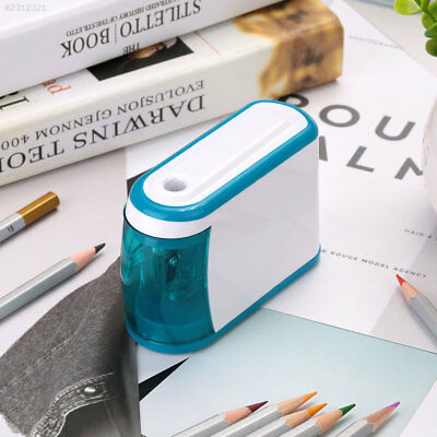 2E1F E09B Automatic Electric Pencil Sharpener Battery Operated Two Holes Desktop