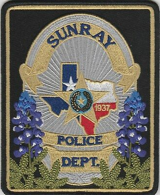 Sunray, Texas Police Dept patch TX