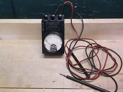 Vintage Weston Ohmmeter and 2 leads Model 689 Type 1-F