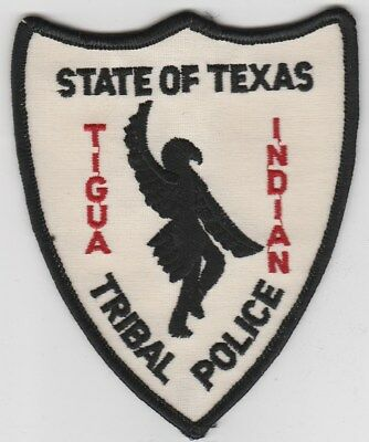 vintage Tigua Indian, Texas Tribal Police Dept patch TX  old style