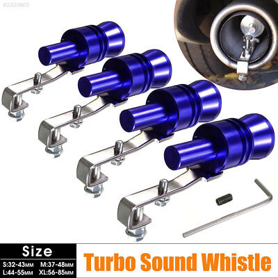 44B4 A3FF Durable Universal 23MM Blue Turbo Whistle Exhaust Muffler Best Gifts