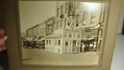 Huge Antique Cabinet Photo Pittsburgh KS WWI Victory Baby Bond Bank Victory!