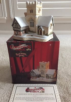 "David Winter Cottages ""A Christmas Carol"" (1989) with Box SIGNED by DAVID WINTER"