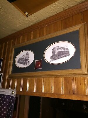 Pennsylvania Railroad Framed Picture With Pin