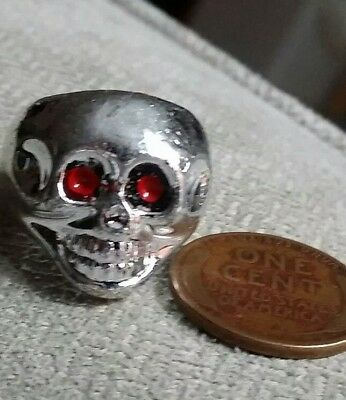 Vintage plastic Kids SKULL RING gumball charm prize jewelry