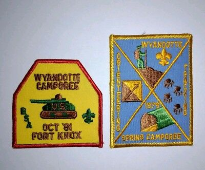 Set of 2 Vintage Boy Scouts of America Patches BSA Wyandotte