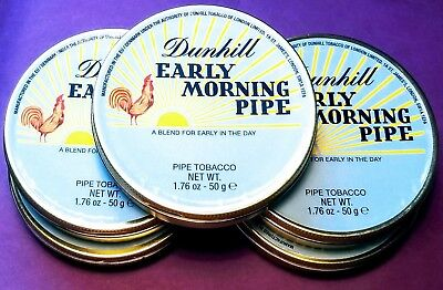 Dunhill Early Morning Pipe -  Five Collectible Sealed Tins