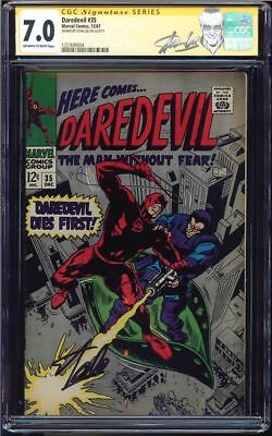 Daredevil #35 Cgc 7.0 Oww Pages Ss Stan Lee Signed Cgc #1227699004