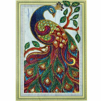 Peacock 5D DIY Special Diamond Painting Embroidery Cross Craft Stitch Home Decor
