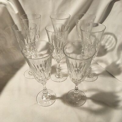 Beautiful Set Of Eight Crystal Champagne/Wine Flutes