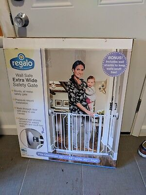 Regalo Baby Easy Step Extra Wide Baby Gate 35 89 Picclick