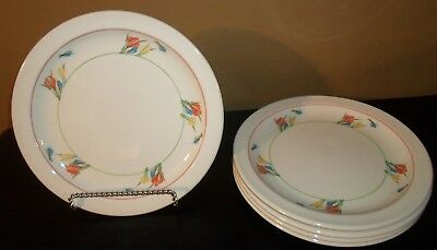 "(5) Midwinter CROCUS 10 1/2"" Dinner Plates  England"