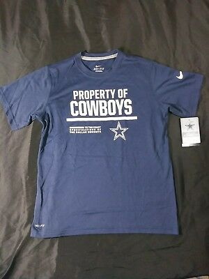 d5b774367  25 Dallas Cowboys NFL Football Nike Dri-Fit shirt Navy Blue Youth Boys Sz M