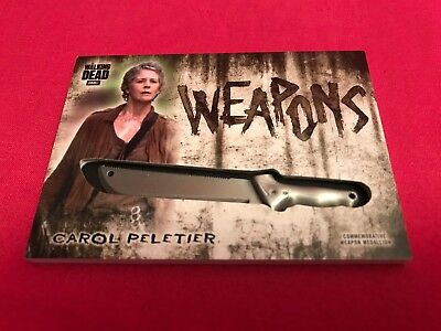 Topps Walking Dead Hunters & Hunted Weapon Medallion Card WM-MCP Carol Peletier