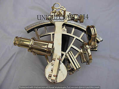 "Vintage Nautical Sextant 9"" Working Solid Brass Astrolabe Marine Instrument."