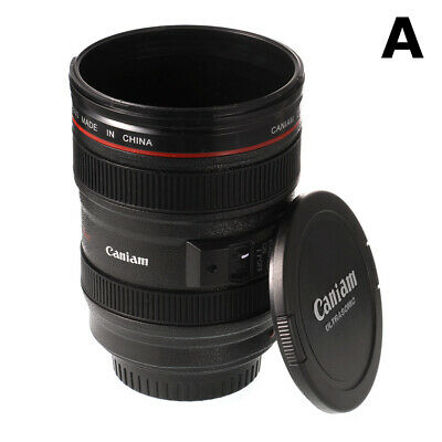 Canon Caniam Camera Lens EF 24-105mm Macro Thermos Travel Tea  Coffee Mug USA #s