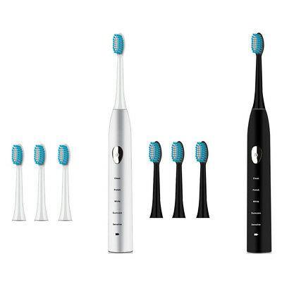 USB Rechargeable Essence Sonic Electric Toothbrush 5 Modes + 2 Brush Heads