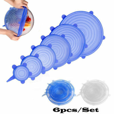 Silicone Wraps Seal Bowl Covers Lids Strech Struction Kitchen Food Saving Lids