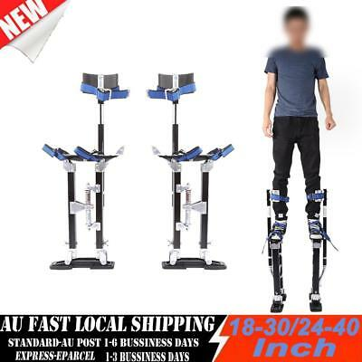 Renovate Plastering Stilts 2 Sizes Drywall Tools Small Medium Large Black Silver