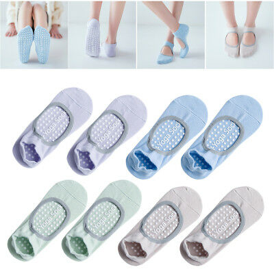 4 Pair Yoga Socks Non Slip Pilates Massage Ballet Socks with Grip Exercise Gym