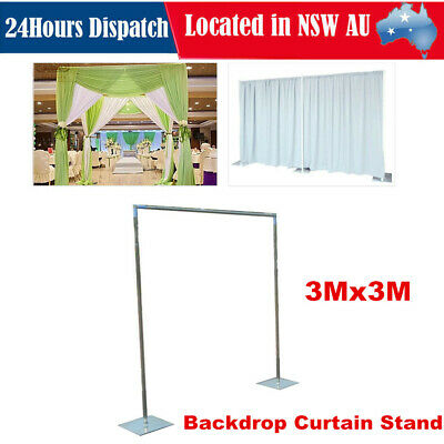 Photography Studio Wedding Backdrop Background Curtain Stand Telescopic Pipe Kit