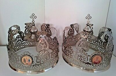 Antique Russian Wedding Crowns  Icons 19th century