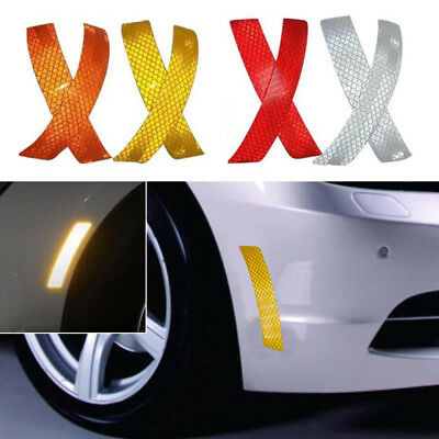 2X Car Bumper Reflective Warning Strip Decal Stickers Auto Accessory 14*2.3cm DO