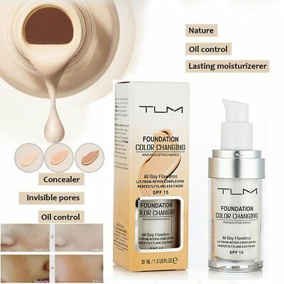 Colour Changing Flawless Foundation Makeup Nude Face Liquid Cover Concealer RW