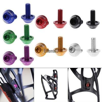 Bicycle Bike Holder Aluminum Alloy Water Bottle Cage Bolts LM