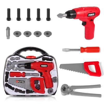 Cakie Construction Tools Kid Set, Toolbox Realistic Pretend Game Role-Playing 3