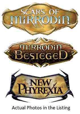 MTG Magic the Gathering Scars of Mirrodin Besieged, New Phyrexia Mix. Multi List