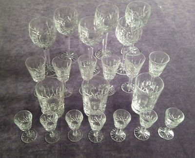 Waterford Crystal 22 assorted glasses Lismore pattern
