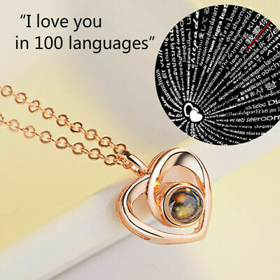 I LOVE YOU in 100 languages Pendant Necklace For Memory of LOVE Christmas Gift