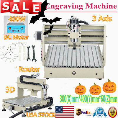 CNC 3040 3 Axis Router 400W Spindle Engraver Engraving Carving Machine Drilling