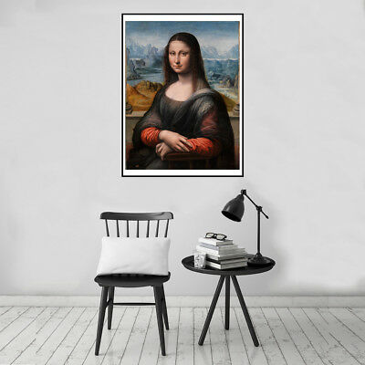Mona Lisa's Smile Canvas Art Painting Poster Print Wall Picture Home Decor Gift