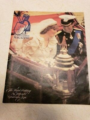 Charles Diana 'Sunday Express' Royal Wedding, very fine condition, 1981