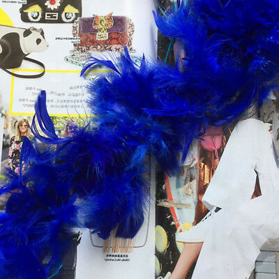 2M Feather Boa Strip Fluffy Craft Costume Dressup Xmas Party Flower Decor UK GY