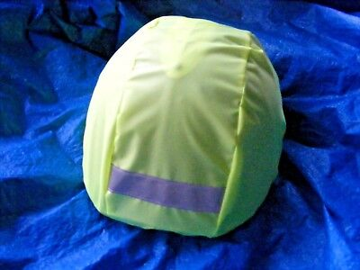 Waterproof Horse Riding Hat Cover / Reflective Strip Flo Yellow
