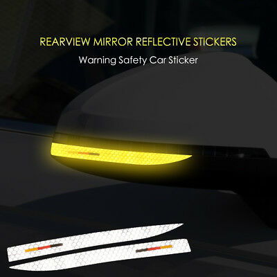 2X Reflective Tape Mark Side Mirror Rearview Sticker Decal for Audi A4 B9 A5 Q5