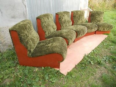 SUPER SEVENTIES 5 poltroncine componibili anni 70 chairs armchairs 1970s