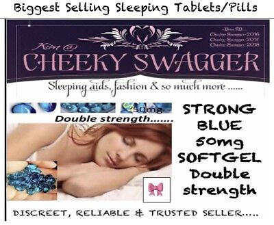 16xStrong Sleeping pills Sleep Aid Tablet 50mg blue softgels🎀PRICE DROPPED""""""""