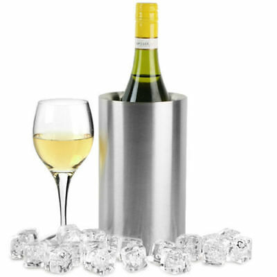 Home Ice Bucket Stainless Steel Double Wall Wine Cooler Bottle Drink Chiller AU