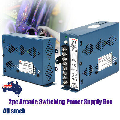 2pc 10A/4A Arcade Game Switching Power Supply 5V 12V for Jamma Multicade Cabinet