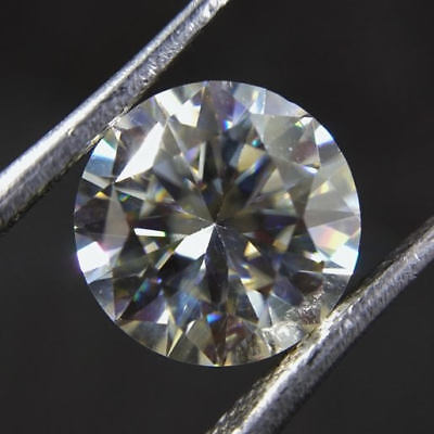 2.25 Cts 9x9x5 mm Round Faceted Brilliant Cut Loose Moissanite Gemstone ML#-2