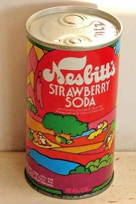 Nesbitt's Strawberry; St. Paul, MN; Steel Soda Pop Can with push button openers