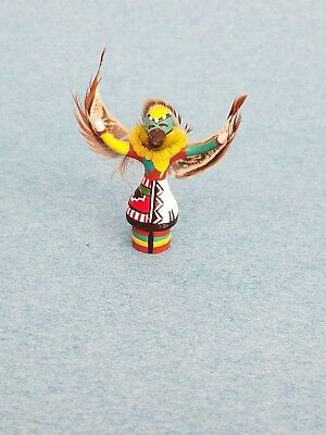 Miniature Dollhouse Artisan carved Kachina Doll Signed 1980s 1:12 scale